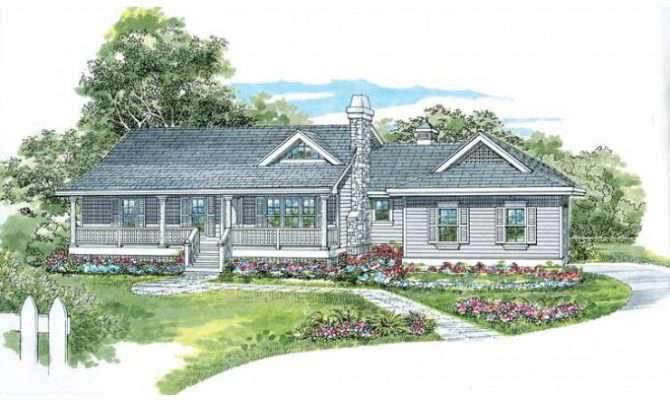Eplans Farmhouse House Plan One Story Country Style Square