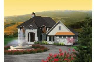 Eplans French Country House Plan Dramatic Spiral Staircase