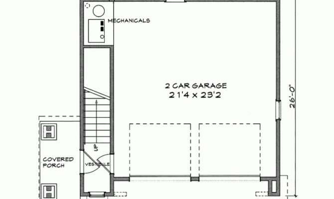 Eplans Garage Plan One Bedroom Square Feet