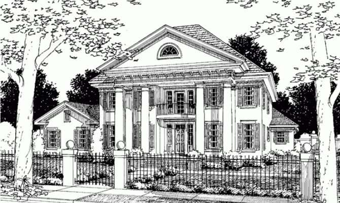 Eplans Greek Revival House Plan Four Bedroom