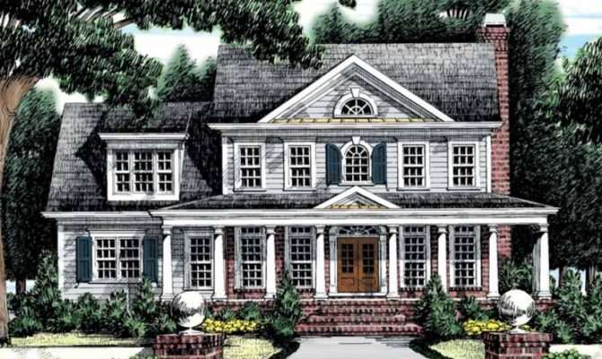 Eplans Greek Revival House Plan Southern Classic Square Feet