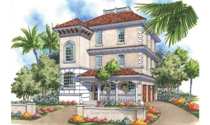 Eplans Italianate House Plan Stately Tower Square Feet