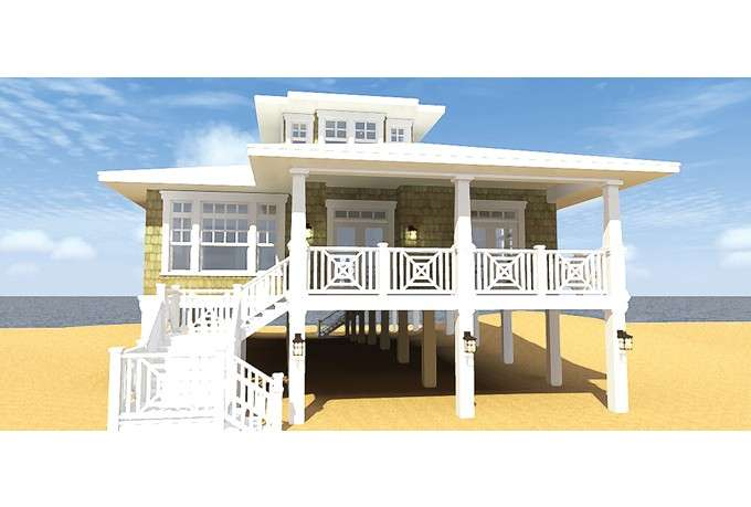 Eplans Low Country House Plan Classic Beach Bungalow