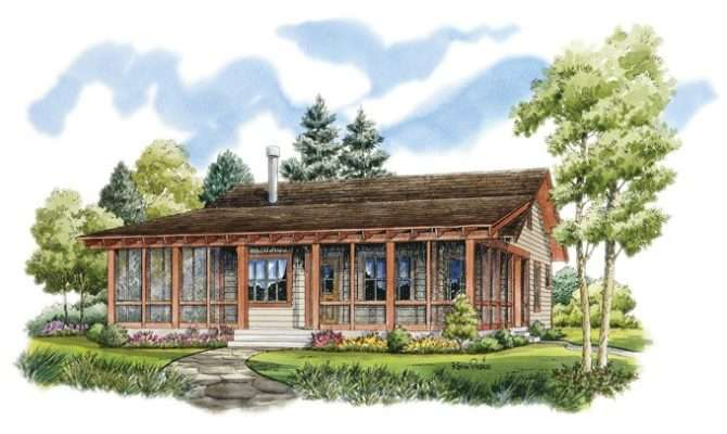 Eplans Low Country House Plan Rustic Sportsman Cabin