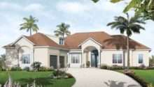 Eplans Mediterranean Modern House Plan Three Bedroom Florida