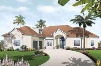 Eplans Mediterranean Modern House Plan Three Bedroom Florida