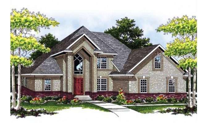 Eplans New American House Plan Dignified Brick Home Square