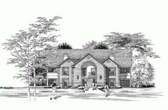Eplans New American House Plan Multiplex Design Eight Apartment