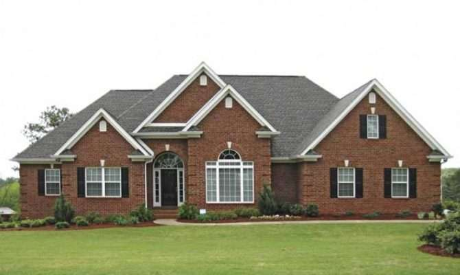 Eplans New American House Plan Traditional Brick Ranch Square