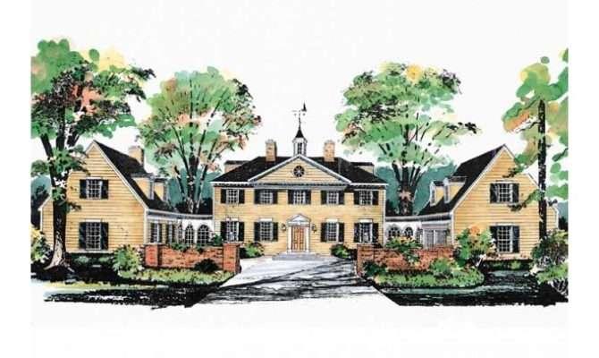 Eplans Plantation House Plan George Washington Slept Here