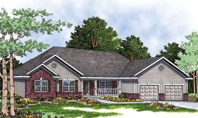 Eplans Ranch House Plan Brick Siding Home Square Feet