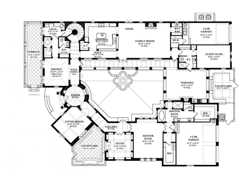 Eplans Spanish House Plan Eclectic Design Beautiful