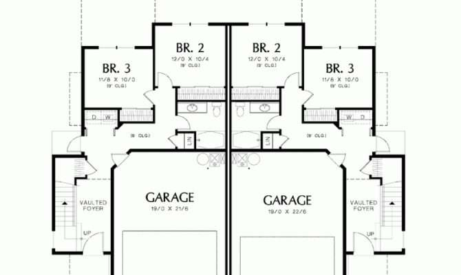 Eplans Split Level House Plan Duplex Curb Appeal