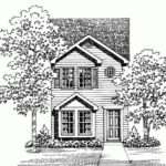 Eplans Traditional House Plan Townhouse Narrow Lot Square