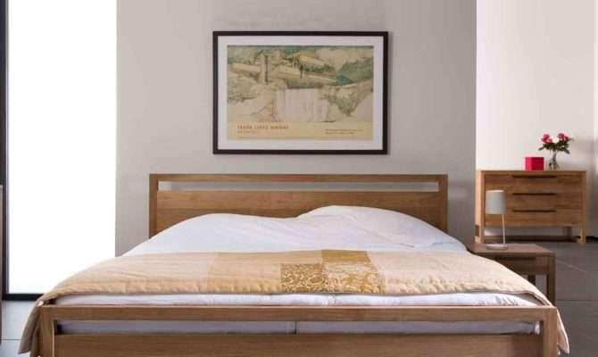 Ethnicraft Light Frame Teak Bed Solid Wood Furniture