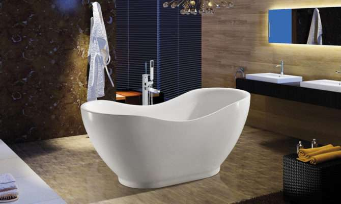Europe Bathroom Bathtub Oval White Color Acrylic Shower Soaking Spa