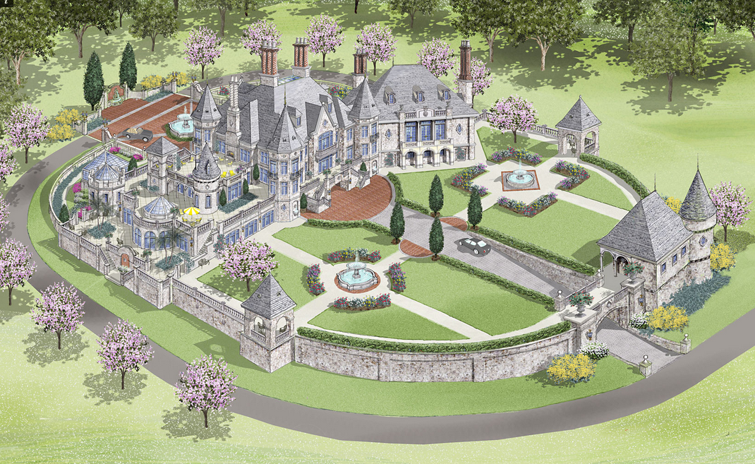 European Castle Design Alessio Inspired Architectural Designs