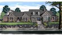 European Farmhouse Ranch House Plan Here