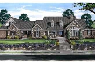 European Farmhouse Ranch House Plan Here