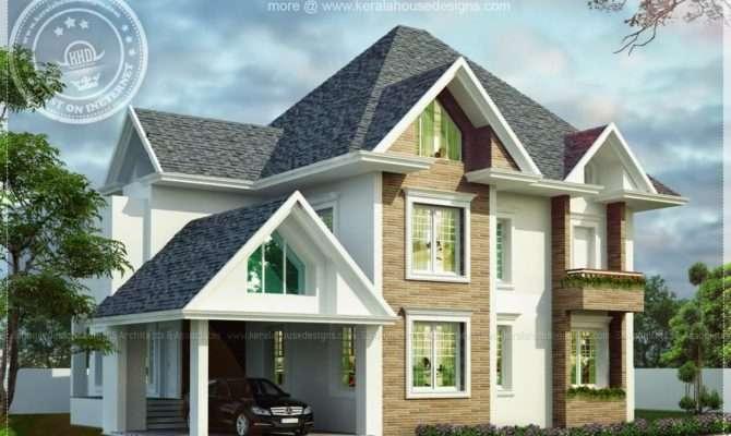 European Model House Construction Kerala Home
