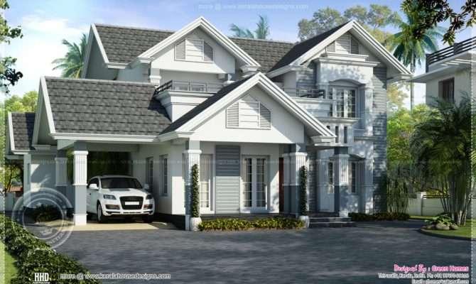European Style Beautiful Villa Kerala Home Design Floor Plans