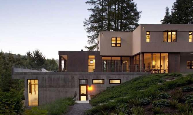 Evening Lighting Impressive House Marin California