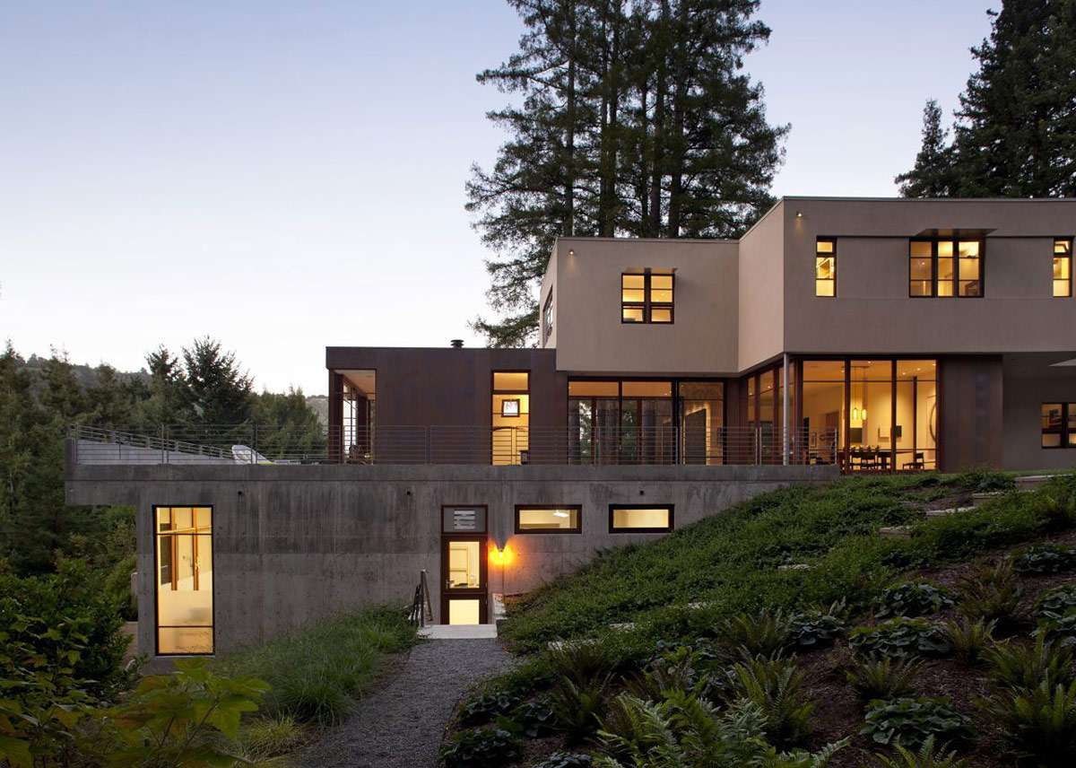 Evening Lighting Impressive House Marin California