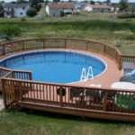 Evergrain Composite Deck Round Walkway Around Pool