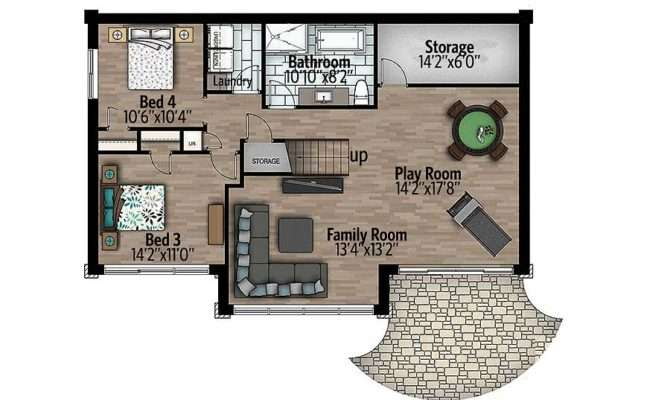 Expandable Contemporary House Plan