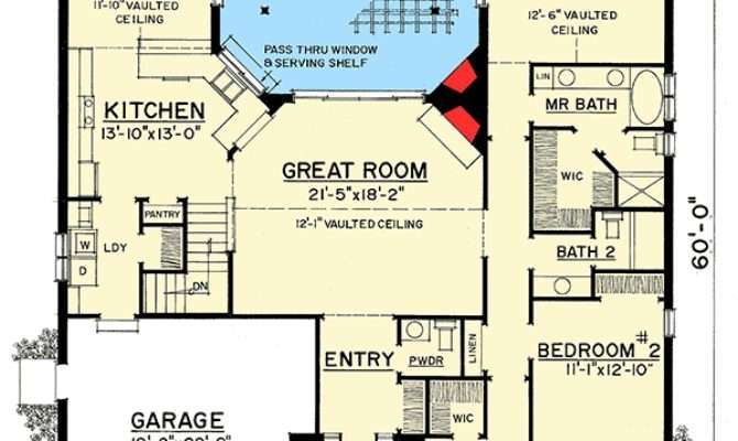 Expandable One Story House Plan Floor