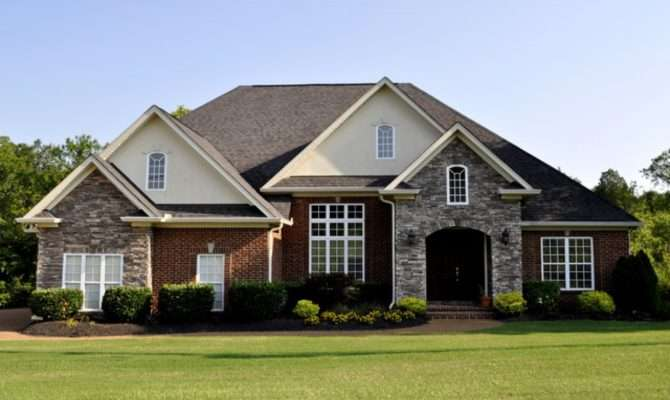 Exterior Colors Brick Homes Red Stone