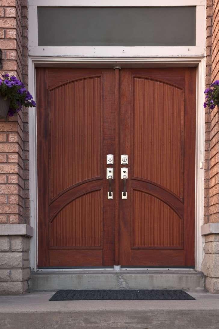 Exterior Entrancing Schemes Modern Double Doors