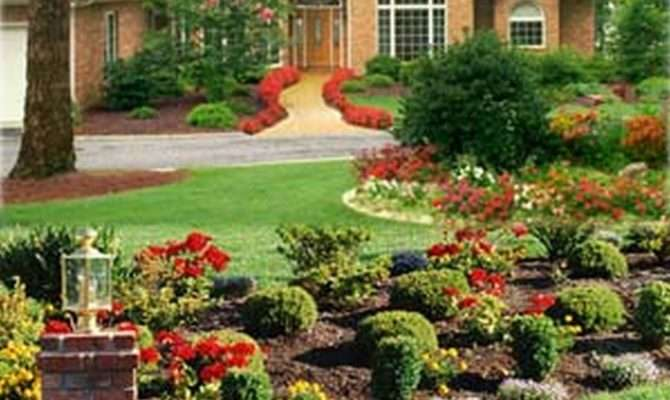 Exterior Flawless Landscaping Ideas Front