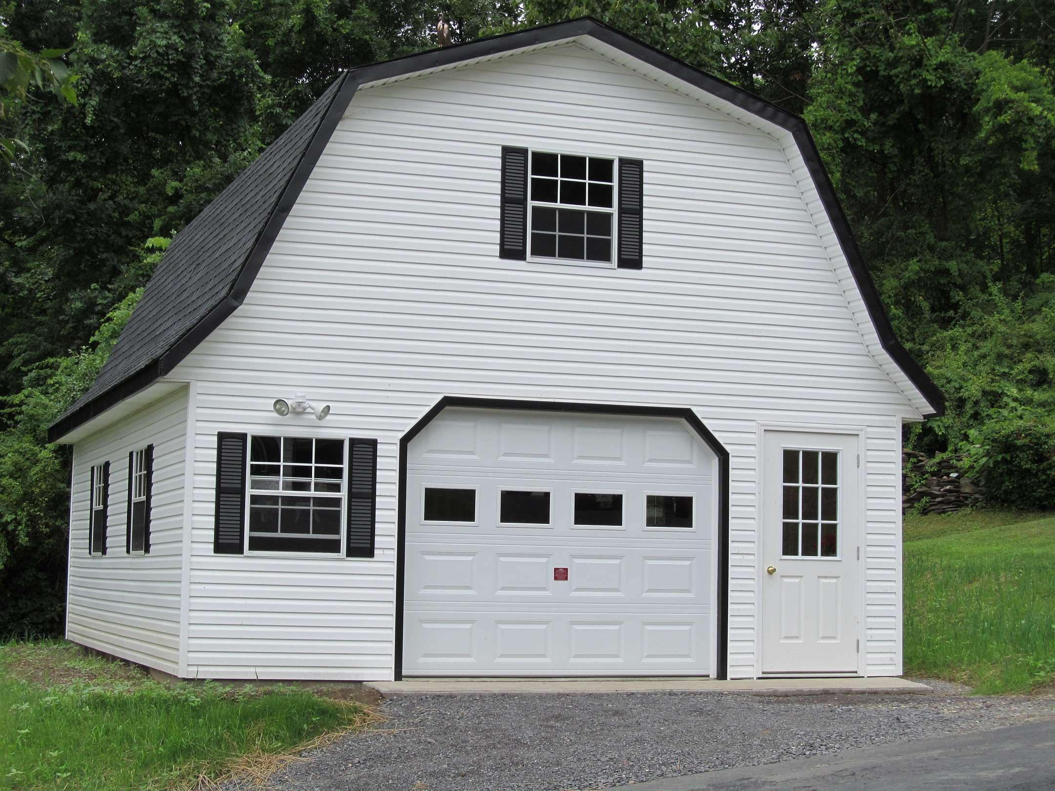 Exterior Gambrel Roof Shed Plans