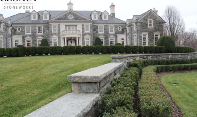 Exterior Million Stone Mansion Homes