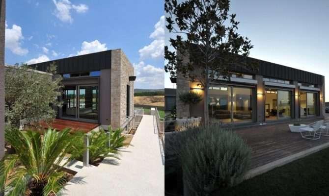 Exterior Modern Stone House Design Olpos