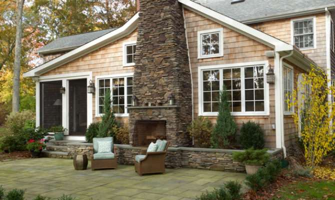Exterior New England Shingle Home Traditional