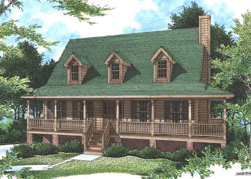 Falais Rustic Country Home Plan House Plans