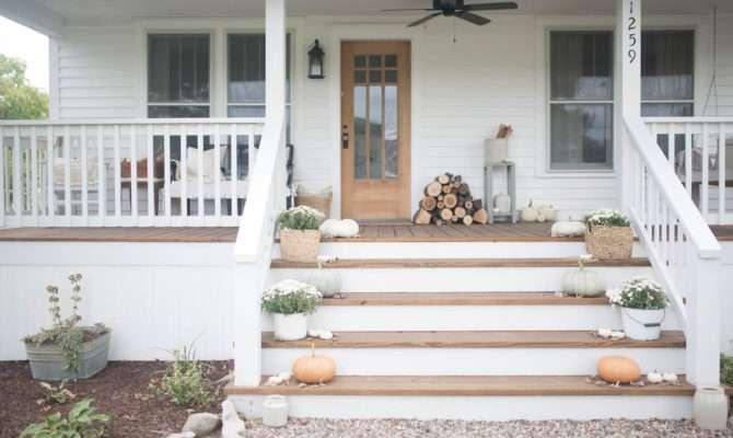 Fall Farmhouse Front Porch Boone
