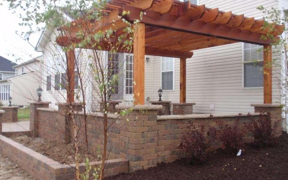 Fantastic Patio Pergola Attached House Garden Landscape