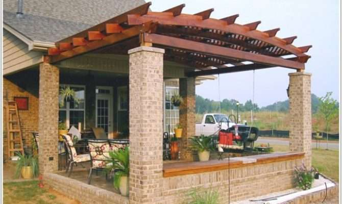 Fantastic Pergola Designs Attached House Garden