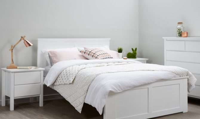 Fantastic White Double Bed Frame Sale Furniture
