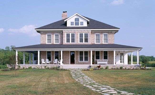 Farmhouse Four Square New Home Custom Homes Vujovich Design