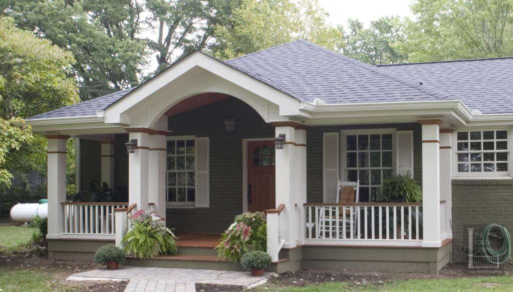Farmhouse Has Open Gable Roof Gothic Arches