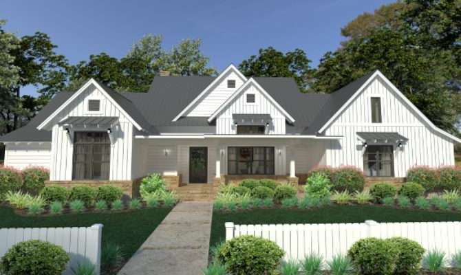 Farmhouse Plans Country Ranch Style Home Designs Thd