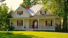 Farmhouse Red Shutters Welcome Home Pinterest