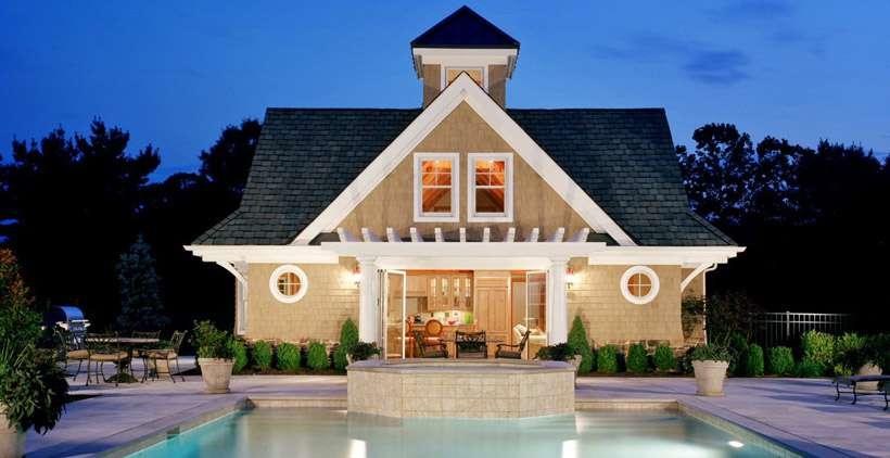 Farmingdale Guest Pool House Plan American Post Beam