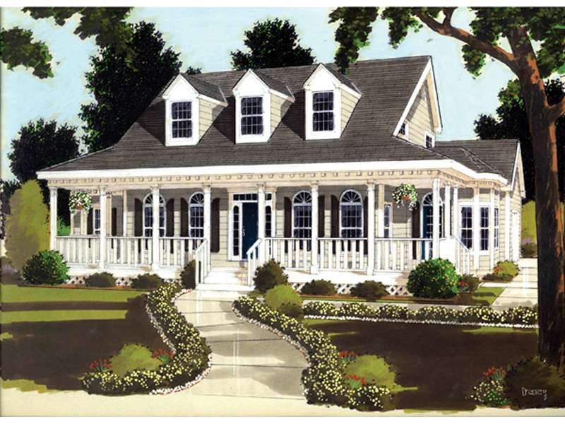 Farson Southern Plantation Home Plan House
