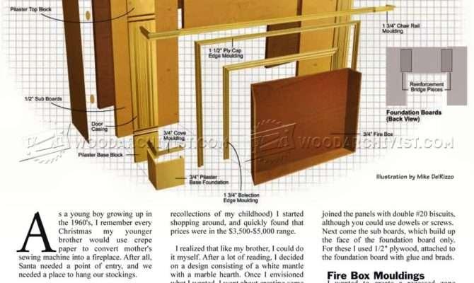 Faux Fireplace Mantle Plans Woodarchivist