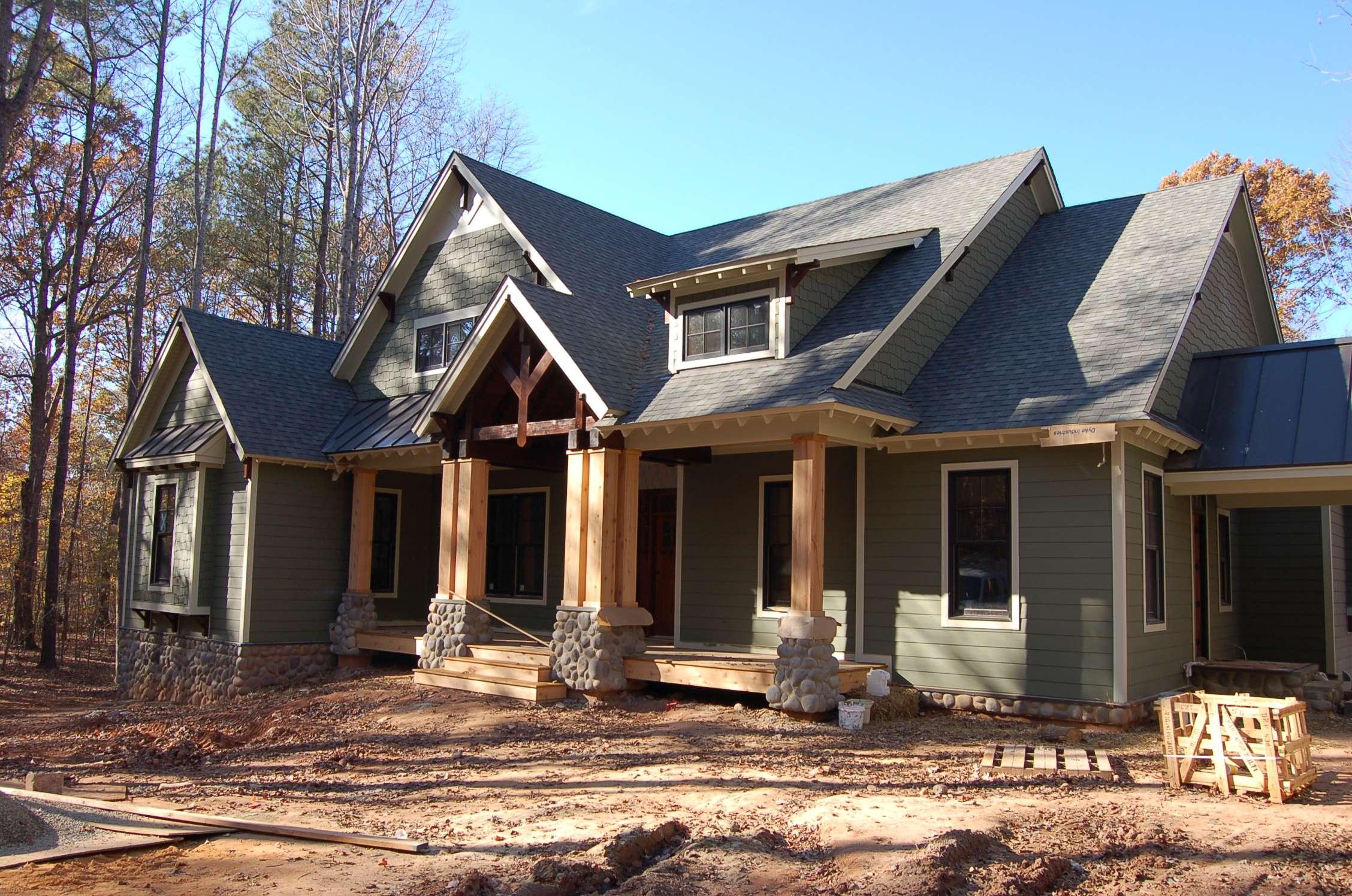 Favored Craftsman Style Homes Great Pair Pillars Verandas